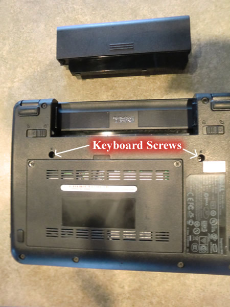 Dell Mini 9 Keyboard Removal